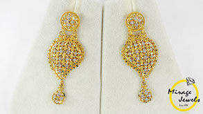 Mirage Jewels 22k Dubai Gold Earrings